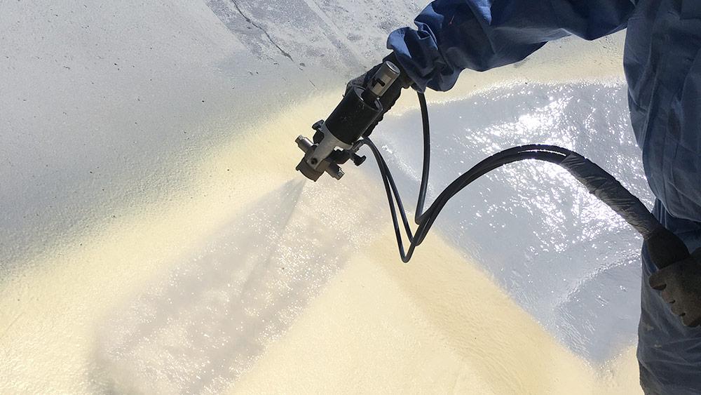 PURFLEX-X Abdichtung eines Abwasserbeckens