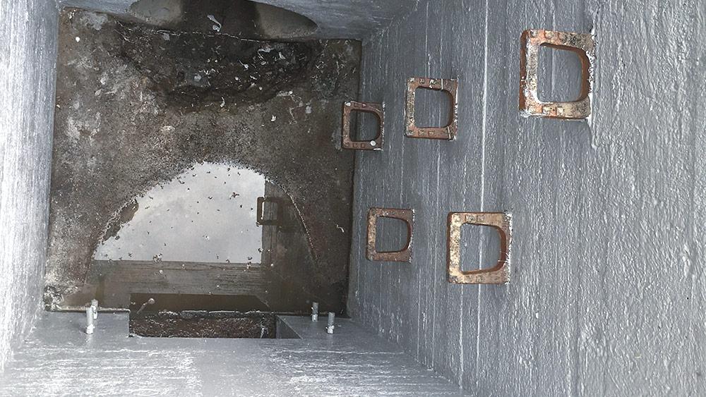 Innenbeschichtung eines Schachtbauwerkes mit PURFLEX–X